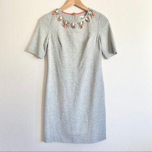 Eliza J Embellished Neckline Sheath Dress